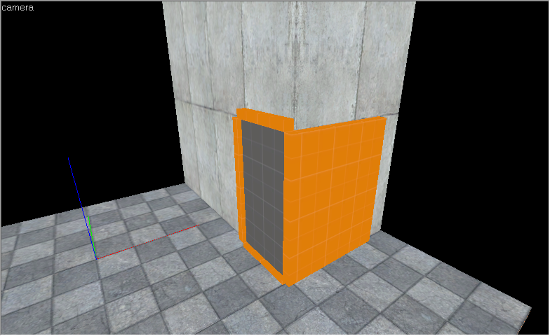 Portal and collisions displayed on a corner
